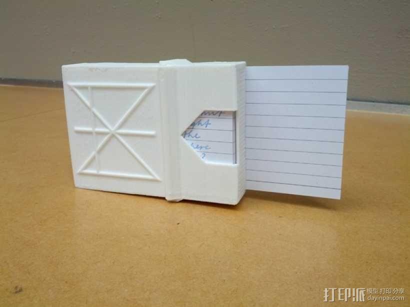 定制化卡片盒 3D模型  图4