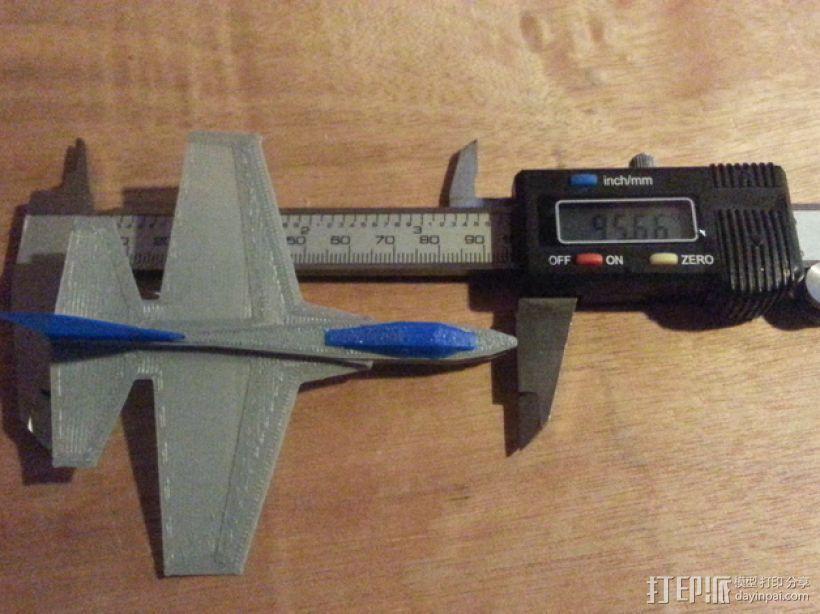 F47滑翔机 3D模型  图1