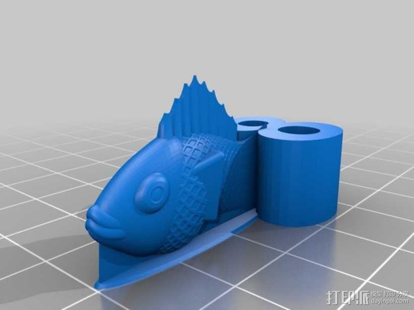 金鱼臂章 3D模型  图1