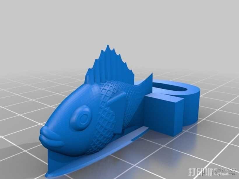 金鱼臂章 3D模型  图2
