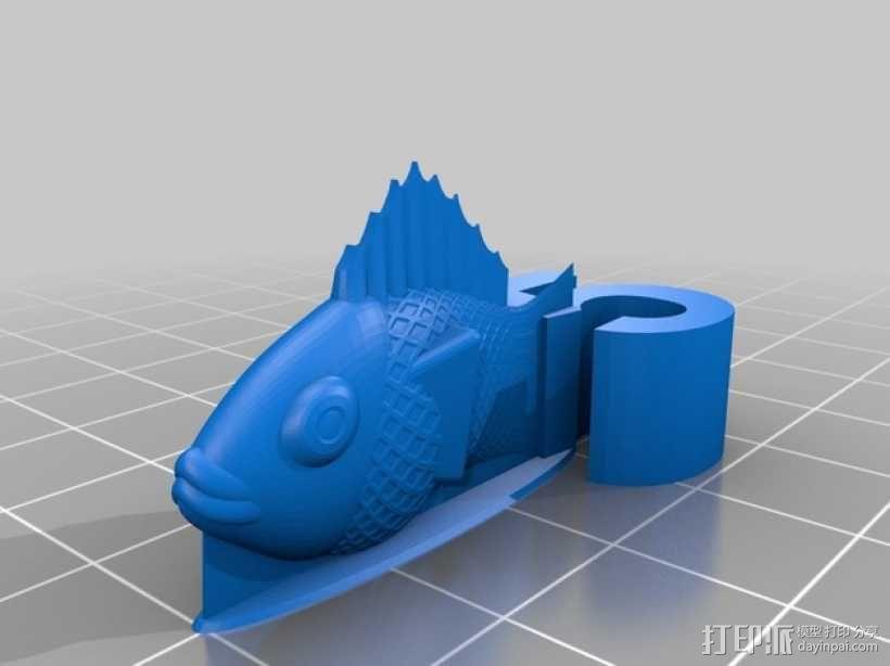 金鱼臂章 3D模型  图3