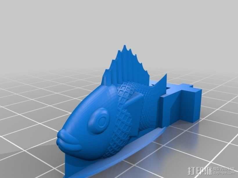 金鱼臂章 3D模型  图4