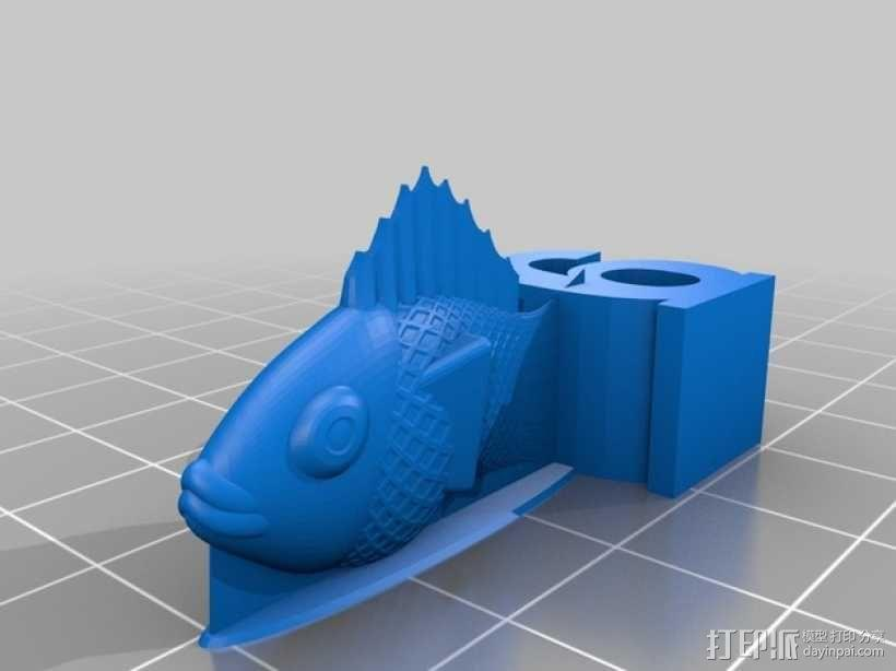 金鱼臂章 3D模型  图5