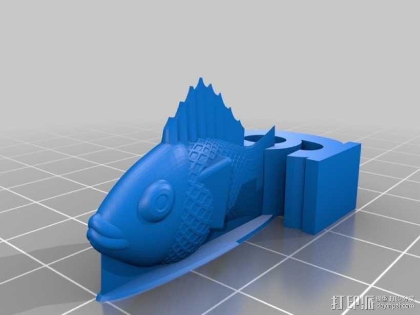 金鱼臂章 3D模型  图6