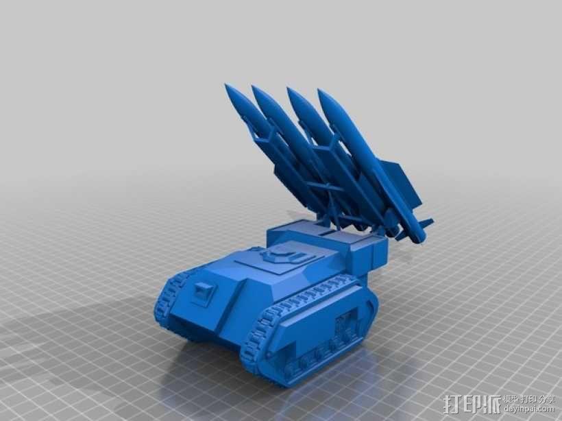 斯芬克斯导弹发射器 3D模型  图1