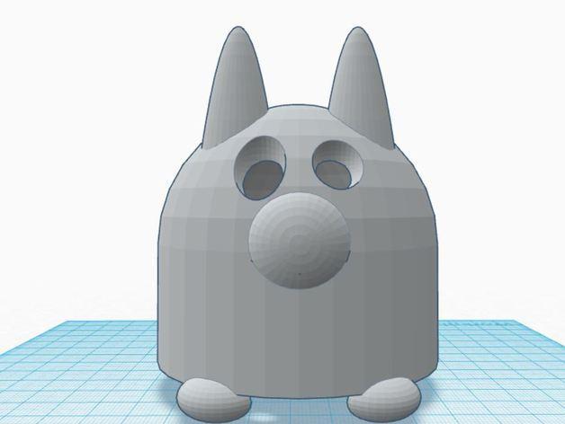 涂鸦猫咪 3D模型  图3