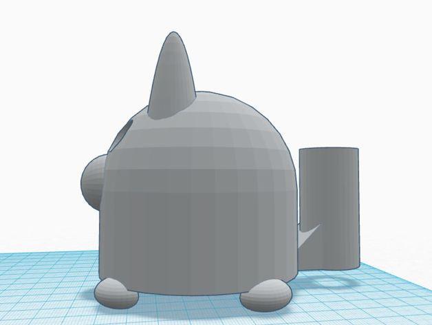 涂鸦猫咪 3D模型  图4