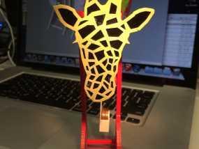 长颈鹿形钟摆 3D模型