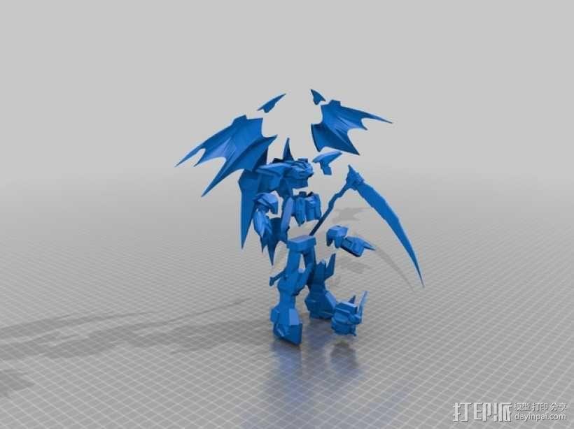死神高达机器人模型 3D模型  图1