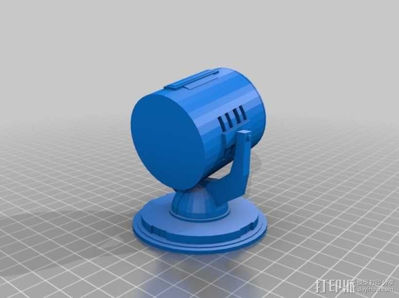 蝙蝠形信号灯 3D模型  图2