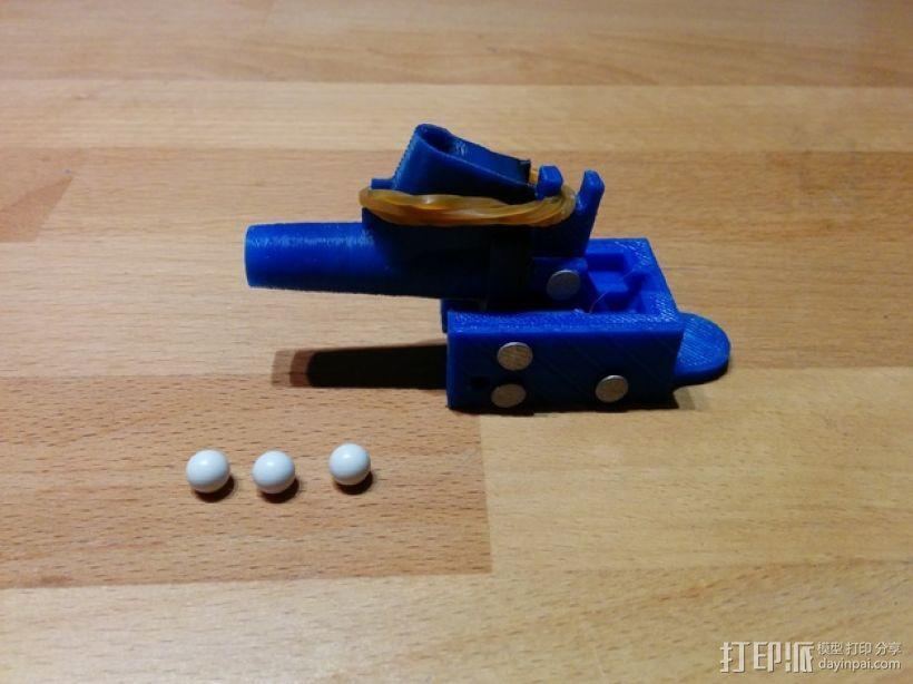 迷你软弹大炮 3D模型  图1