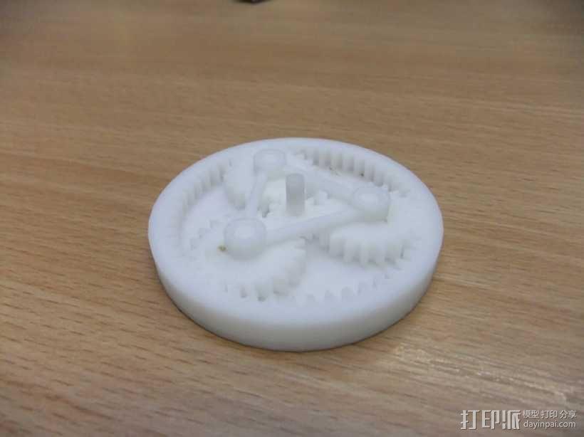 简易行星齿轮  3D模型  图2