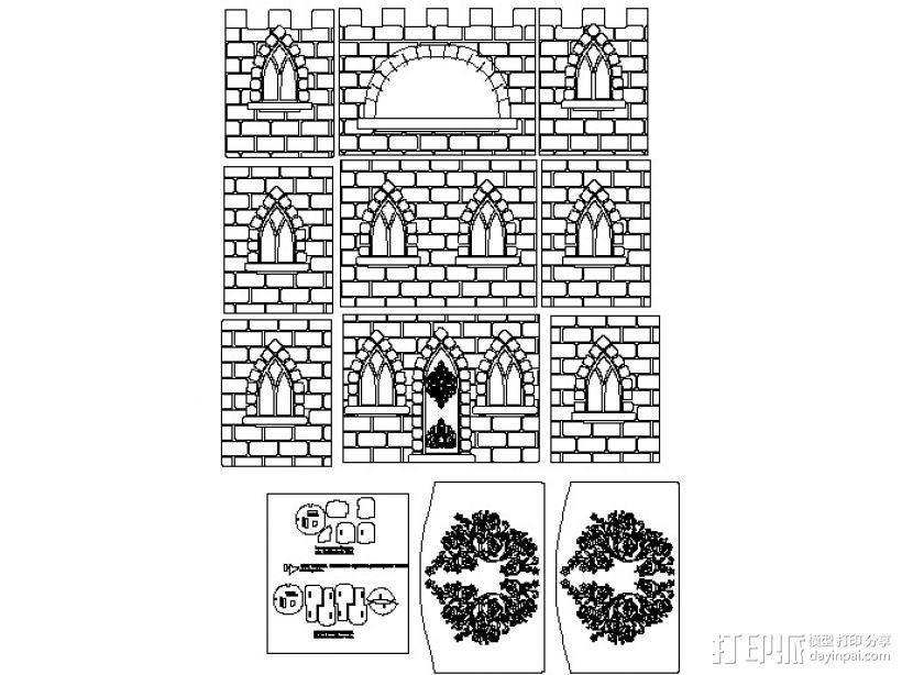 玩具城堡 3D模型  图2