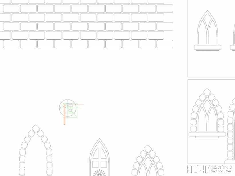 玩具城堡 3D模型  图1
