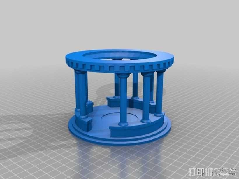 模块化神殿 3D模型  图1