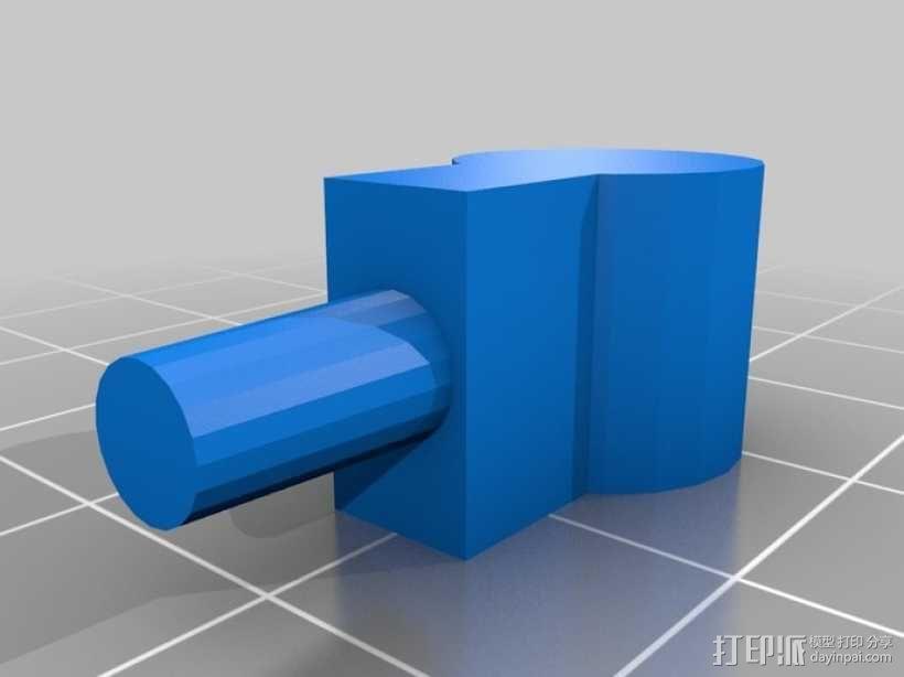 火车车轨连接器 3D模型  图2