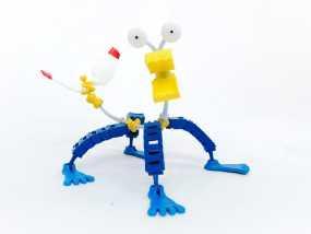 迷你机器人 3D模型