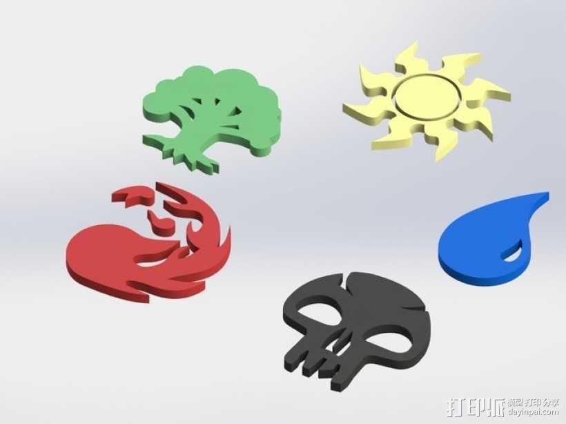 各种游戏徽章 3D模型  图1