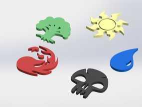 各种游戏徽章 3D模型