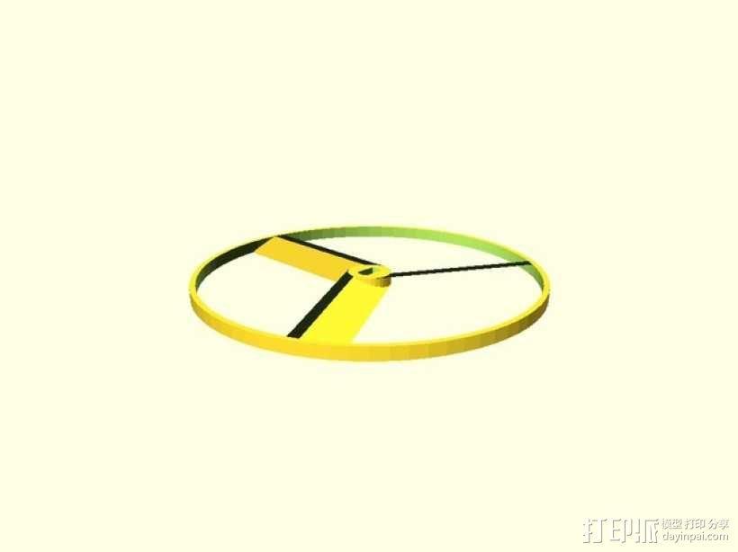飞机螺旋桨 3D模型  图3