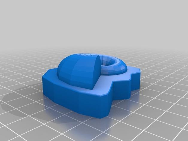 耳轮化石 3D模型  图3