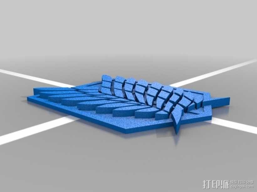 自由之翼 3D模型  图2