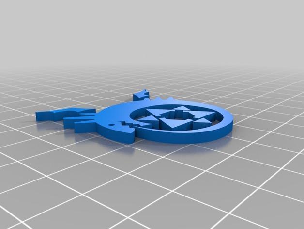 衔尾蛇钥匙链 3D模型  图2