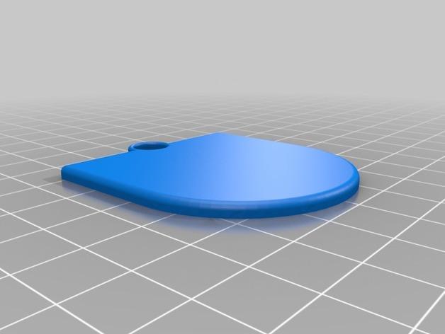 衔尾蛇钥匙链 3D模型  图4