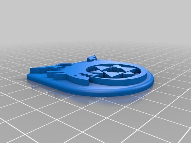 衔尾蛇钥匙链 3D模型  图3