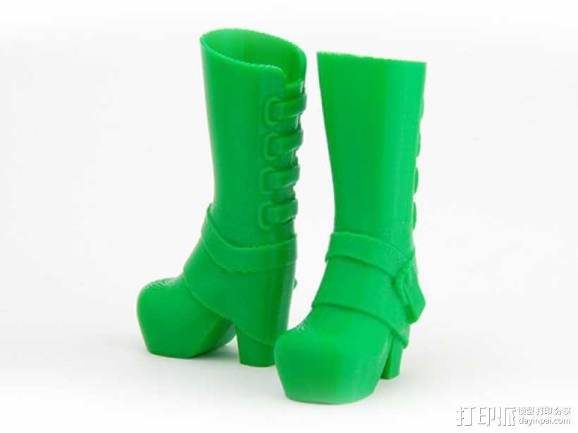 长筒靴 3D模型  图1