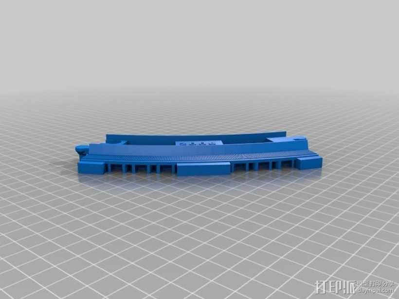 弯曲的火车车轨 3D模型  图5