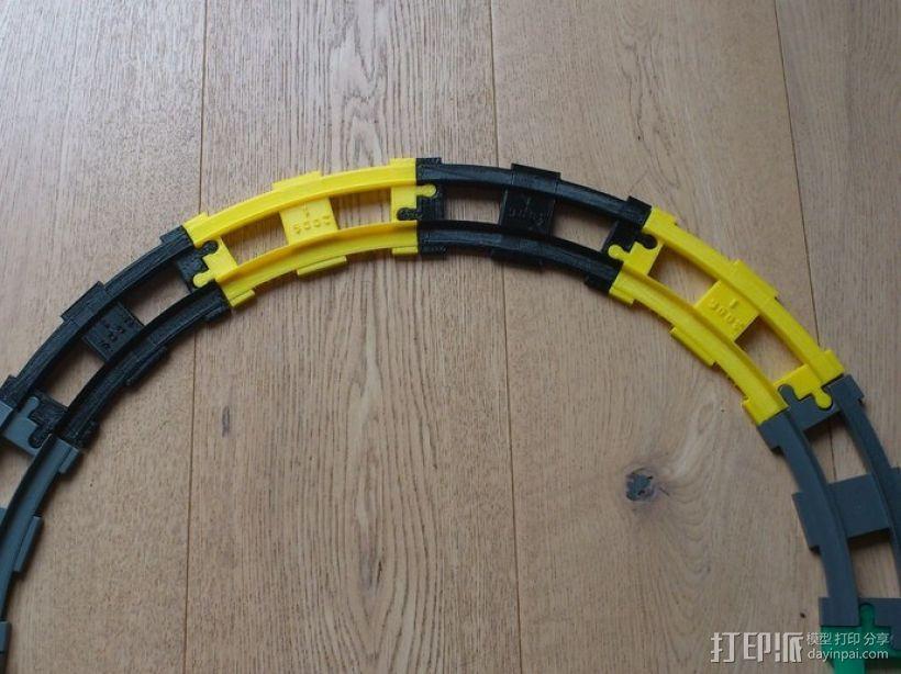 弯曲的火车车轨 3D模型  图7