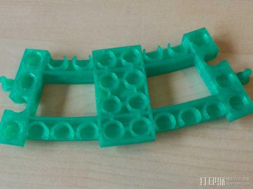 弯曲的火车车轨 3D模型  图6