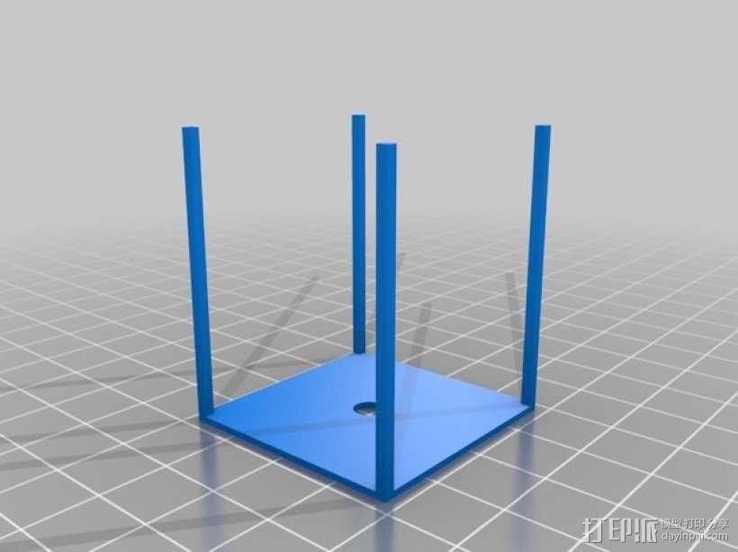 爆米花形照明灯 3D模型  图3