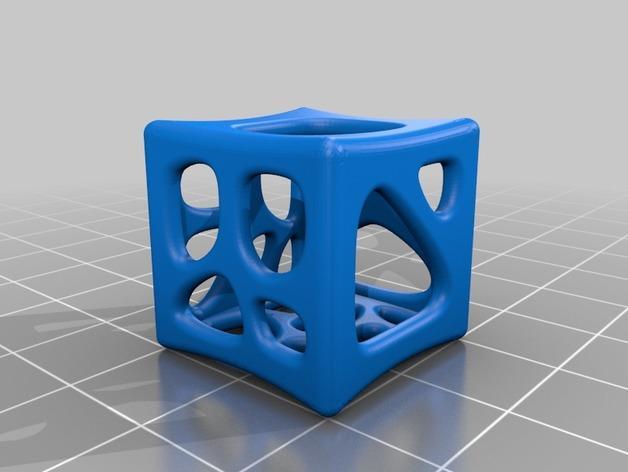 六面镂空立方体 3D模型  图1