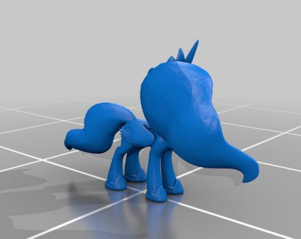 迷你小马驹 3D模型  图2