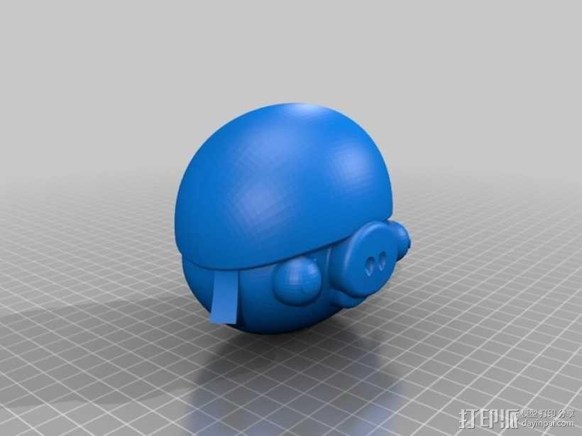 绿头猪 3D模型  图3