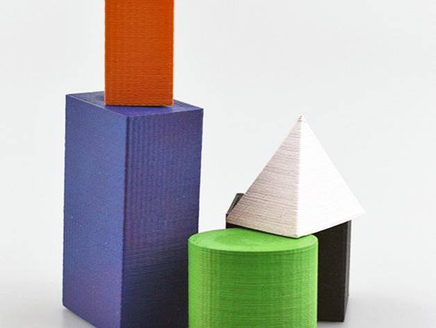 几何方块 3D模型  图3