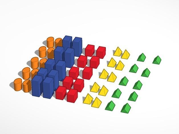 几何方块 3D模型  图5