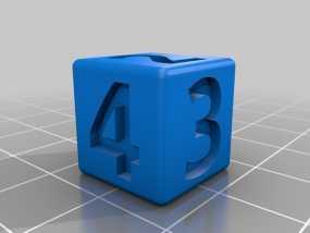 双色骰子 3D模型