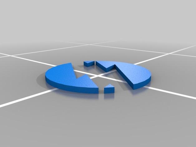 闪电标志 3D模型  图2