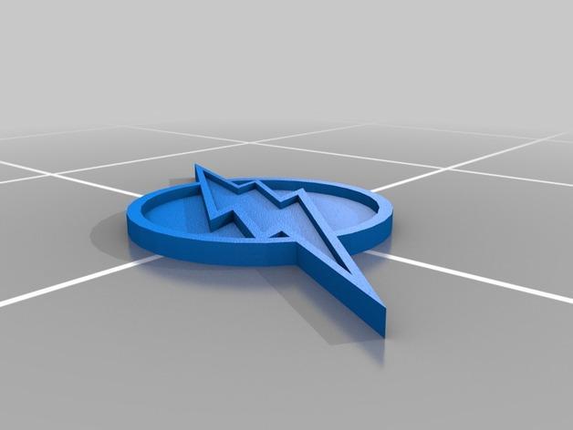 闪电标志 3D模型  图3