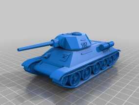 T34坦克 3D模型