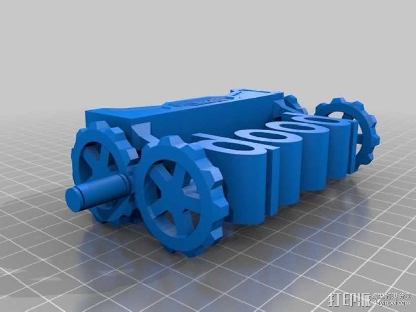 boob poop上下对称装置 3D模型  图2