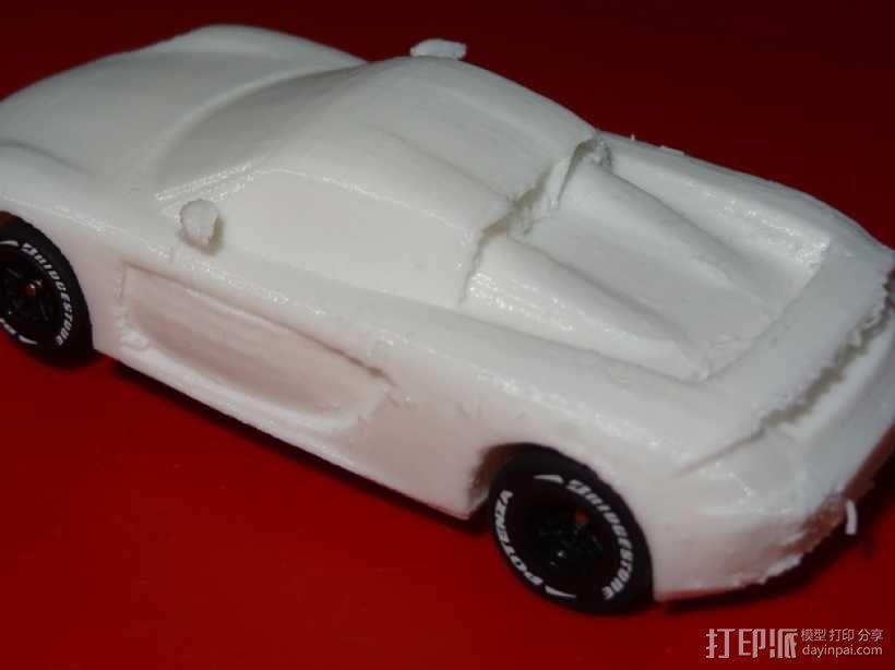 HO槽轨车 - 保时捷Carrera GT 3D模型  图3