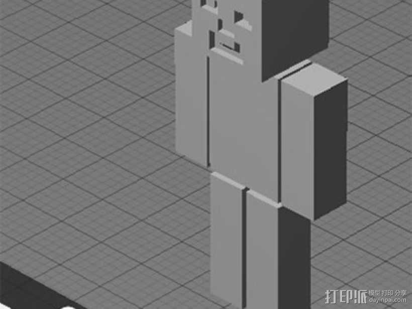 四肢可动的末影人模型 3D模型  图1