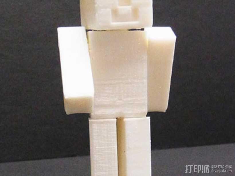 四肢可动的末影人模型 3D模型  图2