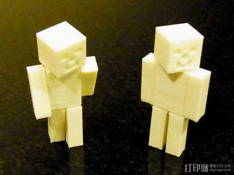 四肢可动的末影人模型 3D模型  图4