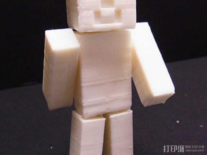 四肢可动的末影人模型 3D模型  图3