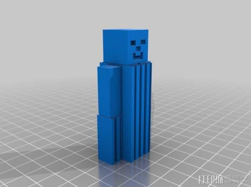 四肢可动的末影人模型 3D模型  图5
